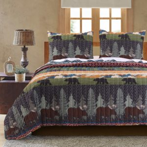 Black Bear Lodge Quilt Set